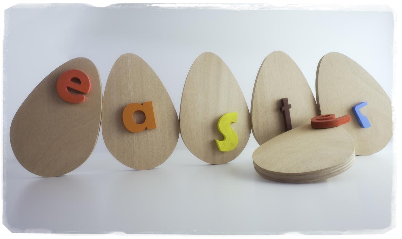 LEttere di legno - Pasqua