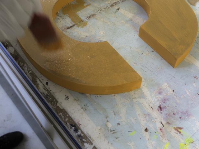 Tamponatura lettere di legno