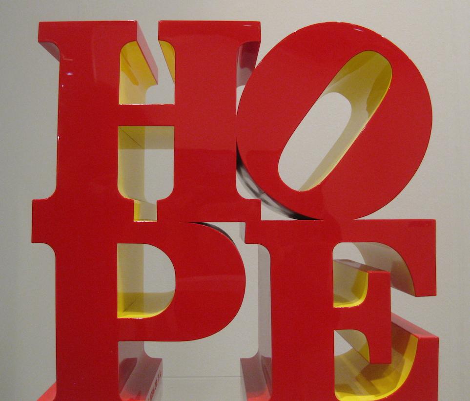 robert indiana lettere di legno