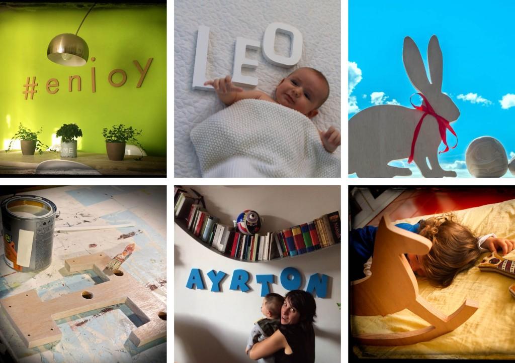 foto utenti lettere di legno